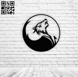 Wolf E0010905 file cdr and dxf free vector download for laser engraving machines