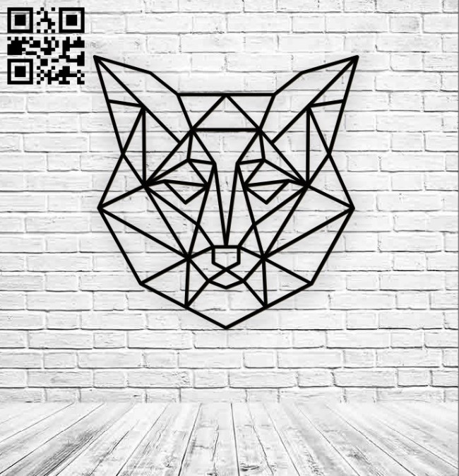 Wolf head E0010889 file cdr and dxf free vector download for Laser cut