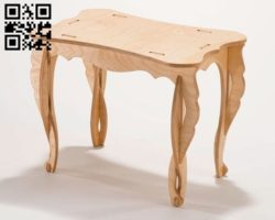 Wood table E0010786 file cdr and dxf free vector download for laser cut