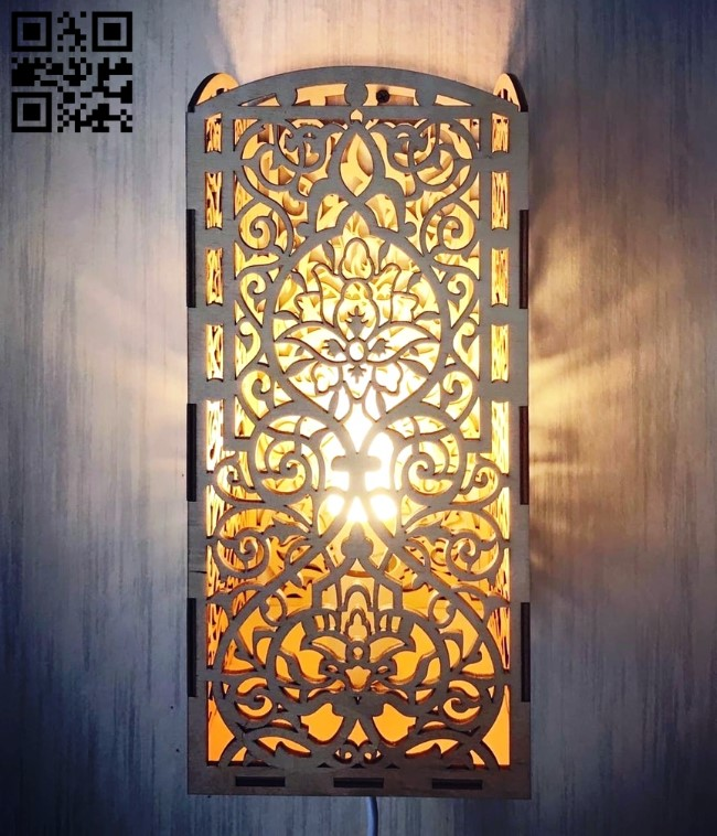 Wooden lamp E0010823 file cdr and dxf free vector download for Laser cut