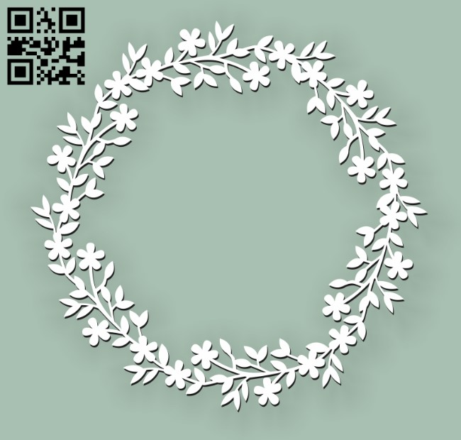 Wreath E0010602 file cdr and dxf free vector download for Laser cut