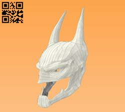 3D Batman mask E0010967 file cdr and dxf free vector download for Paper Laser cut