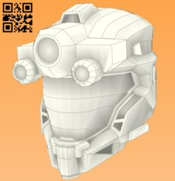 3D Helmet E0010968 file cdr and dxf free vector download for Paper Laser cut