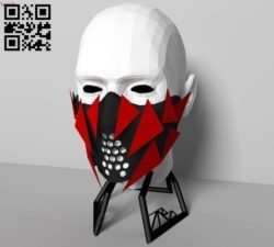 3D Mask E0010970 file cdr and dxf free vector download for Paper Laser cut