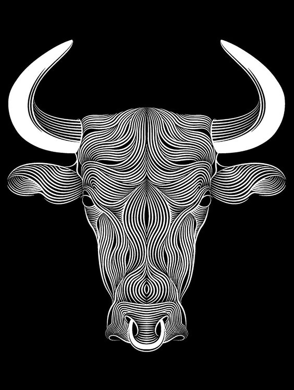 3D illusion led lamp Buffalo head E0011124 file cdr and dxf free vector download for laser engraving machines 1