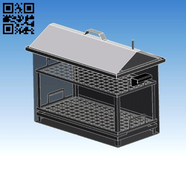 BBQ Gril E0011013 file cdr and dxf free vector download for Laser cut Plasma