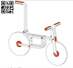Balance bike E0011027 file PDF free vector download for Laser cut