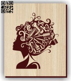 Barbershop girl E0011283 file cdr and dxf free vector download for laser engraving machines