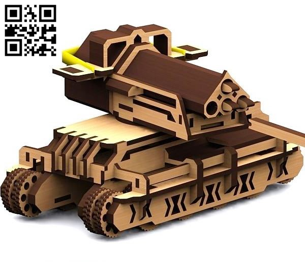 Battle tank E0011326 file cdr and dxf free vector download for laser cut