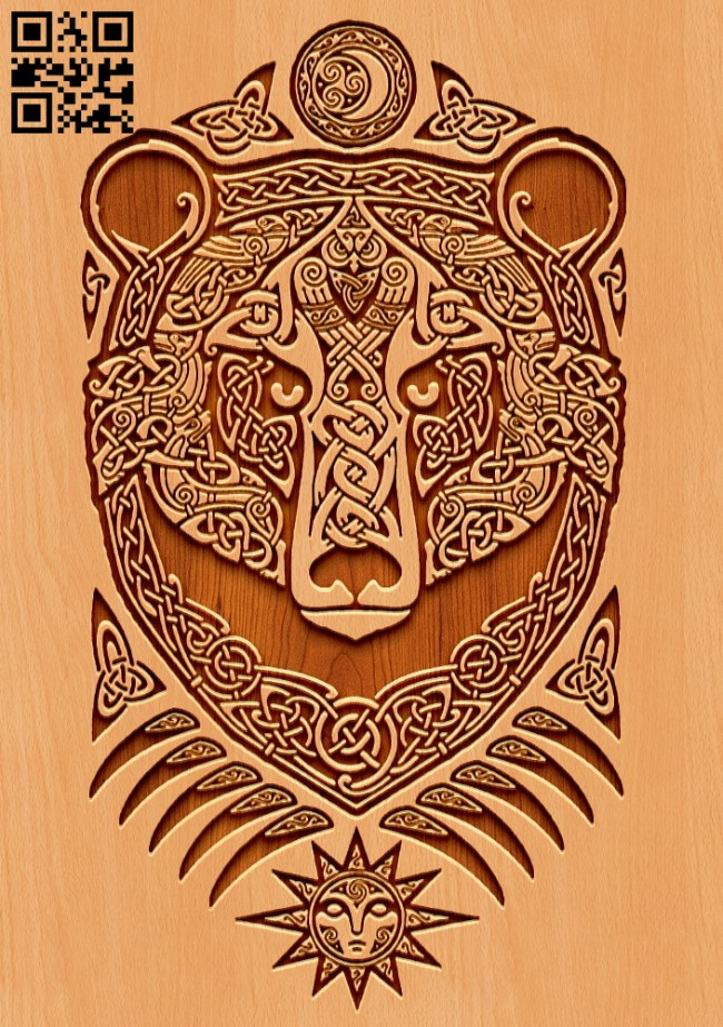 Bear E0011018 file cdr and dxf free vector download for laser engraving machines