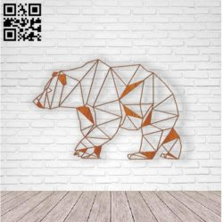 Bear E0011157 file cdr and dxf free vector download for laser cut