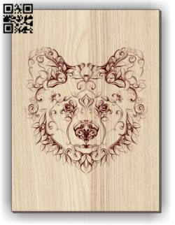 Bear E0011251 file cdr and dxf free vector download for laser engraving machines