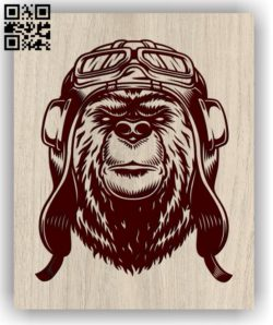 Bear with glasses E0011324 file cdr and dxf free vector download for laser engraving machines