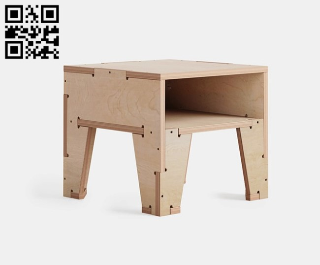 Bedside table E0011020 file cdr and dxf free vector download for laser cut