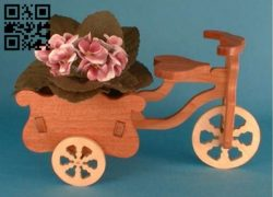 Bicycle Flower Cart E0011165 file cdr and dxf free vector download for Laser cut