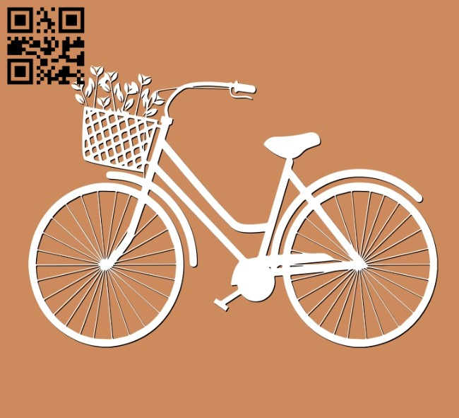Bike E0011195 file cdr and dxf free vector download for Laser cut