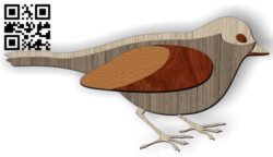 Bird E0011108 file cdr and dxf free vector download for Laser cut