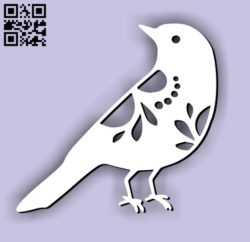 Bird E0011289 file cdr and dxf free vector download for laser cut