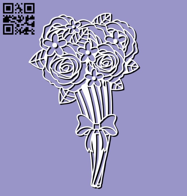 Bouquet E0011286 file cdr and dxf free vector download for laser cut