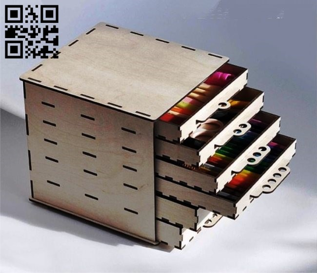 Box six drawer E0010992 file cdr and dxf free vector download for Laser cut