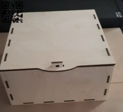 Box without ears E0011104 file cdr and dxf free vector download for laser cut