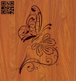 Butterflies and flowers E0011049 file cdr and dxf free vector download for laser engraving machines