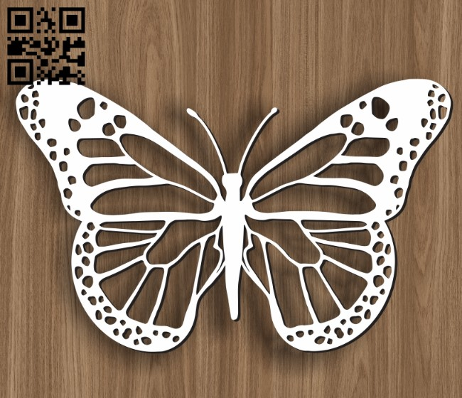 Butterfly E0011152 file cdr and dxf free vector download for laser cut