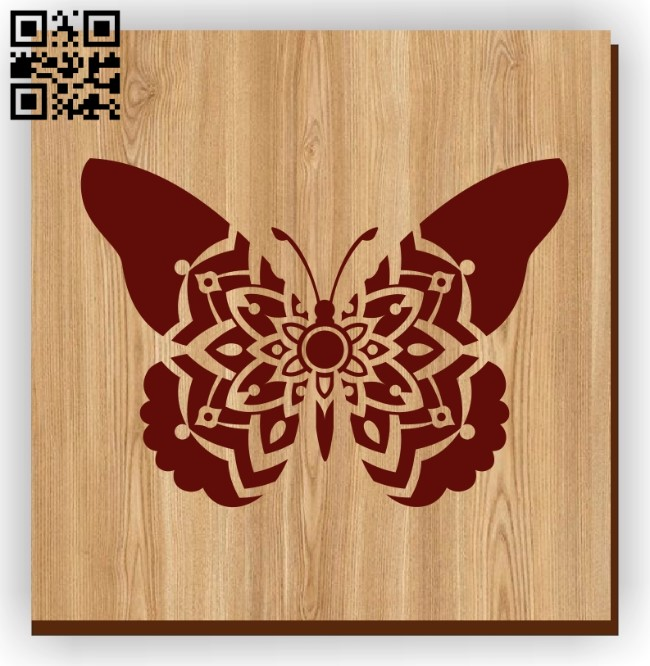 Butterfly with manlada E0011156 file cdr and dxf free vector download for laser engraving machines