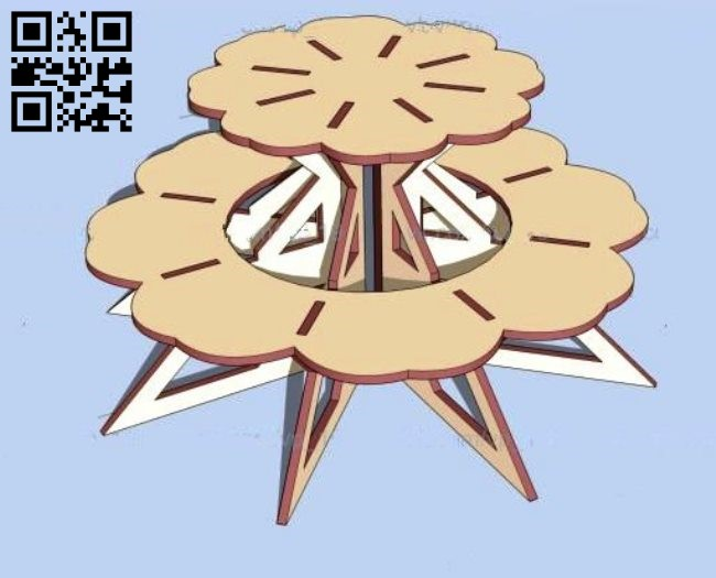 Cake stand E0011222 file cdr and dxf free vector download for laser cut