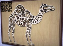 Camel multilayer  E0011206 file cdr and dxf free vector download for Laser cut