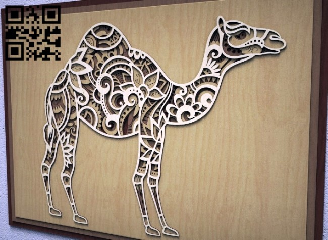 Camel multilayer E0011206 file cdr and dxf free vector download for Laser cut1