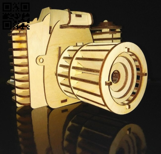Camera E0011299 file cdr and dxf free vector download for Laser cut