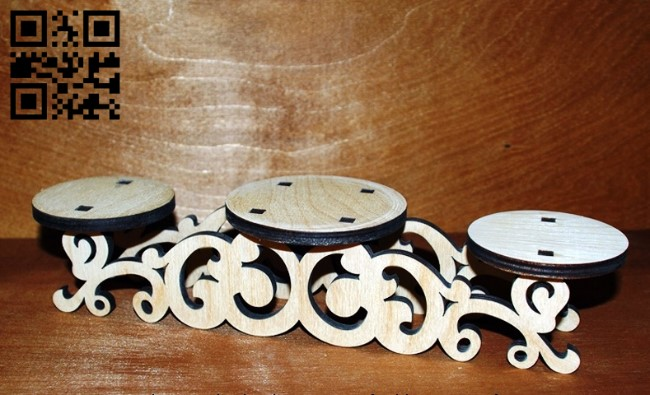 Candlesticks E0011204 file cdr and dxf free vector download for Laser cut