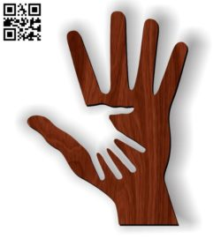 Caring hand E0011056 file cdr and dxf free vector download for Laser cut