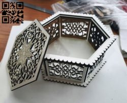 Carved plywood box E0011106 file cdr and dxf free vector download for Laser cut