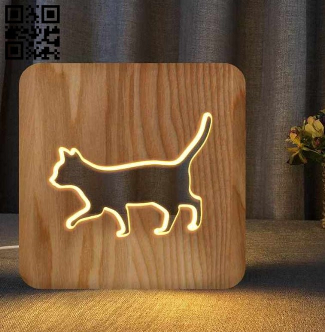 Cat E0011070 file cdr and dxf free vector download for Laser cut