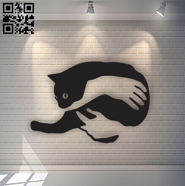 Cat E0011323 file cdr and dxf free vector download for Laser cut