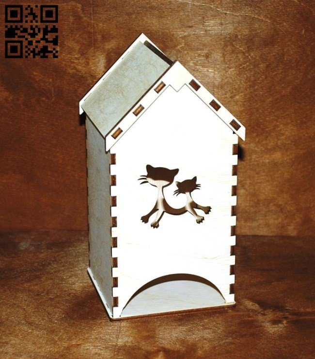 Cat tea house E0011270 file cdr and dxf free vector download for laser cut