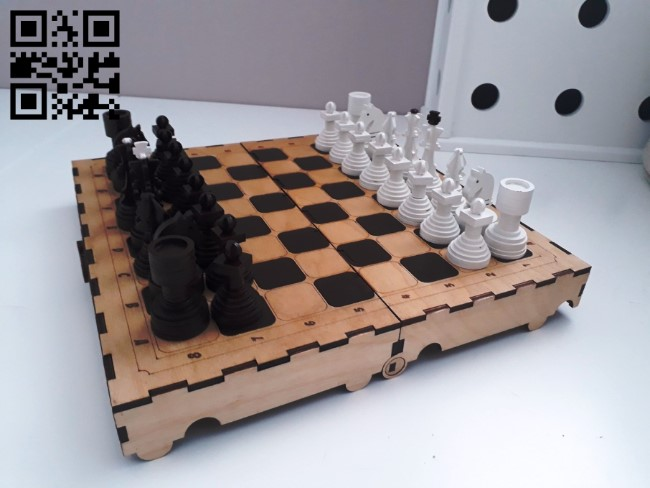 Chess E0011015 file cdr and dxf free vector download for Laser cut