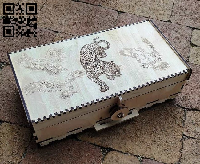 Cigarette case E0011274 file cdr and dxf free vector download for laser cut
