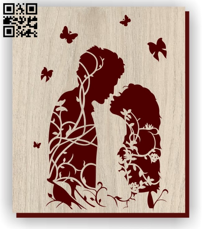 Couple love E0011266 file cdr and dxf free vector download for laser engraving machines