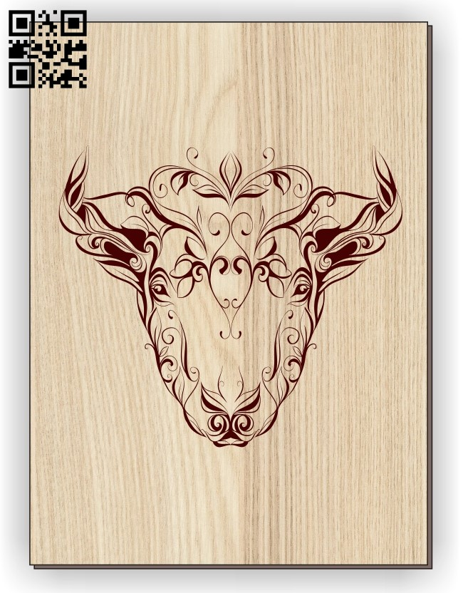Cow E0011254 file cdr and dxf free vector download for laser engraving machines