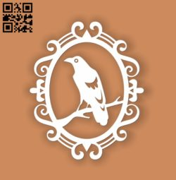 Crow E0010955 file cdr and dxf free vector download for Laser cut