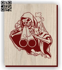 Death E0011265 file cdr and dxf free vector download for laser engraving machines