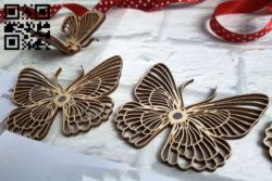 Decor Butterfly E0011054 file cdr and dxf free vector download for Laser cut