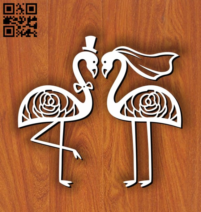 Decorating the wedding E0011200 file cdr and dxf free vector download for Laser cut