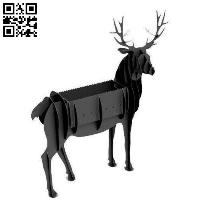 Deer BBQ grill E0011095 file cdr and dxf free vector download for Laser cut Plasma