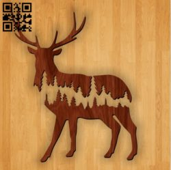 Deer E0010953 file cdr and dxf free vector download for Laser cut Plasma