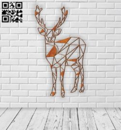 Deer E0011003 file cdr and dxf free vector download for Laser cut