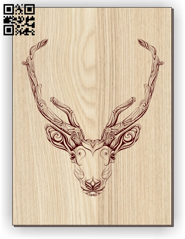 Deer E0011252 file cdr and dxf free vector download for laser engraving machines